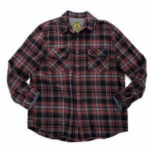 ANCHORAGE Men's Plaid Flannel Collared Shirt XL